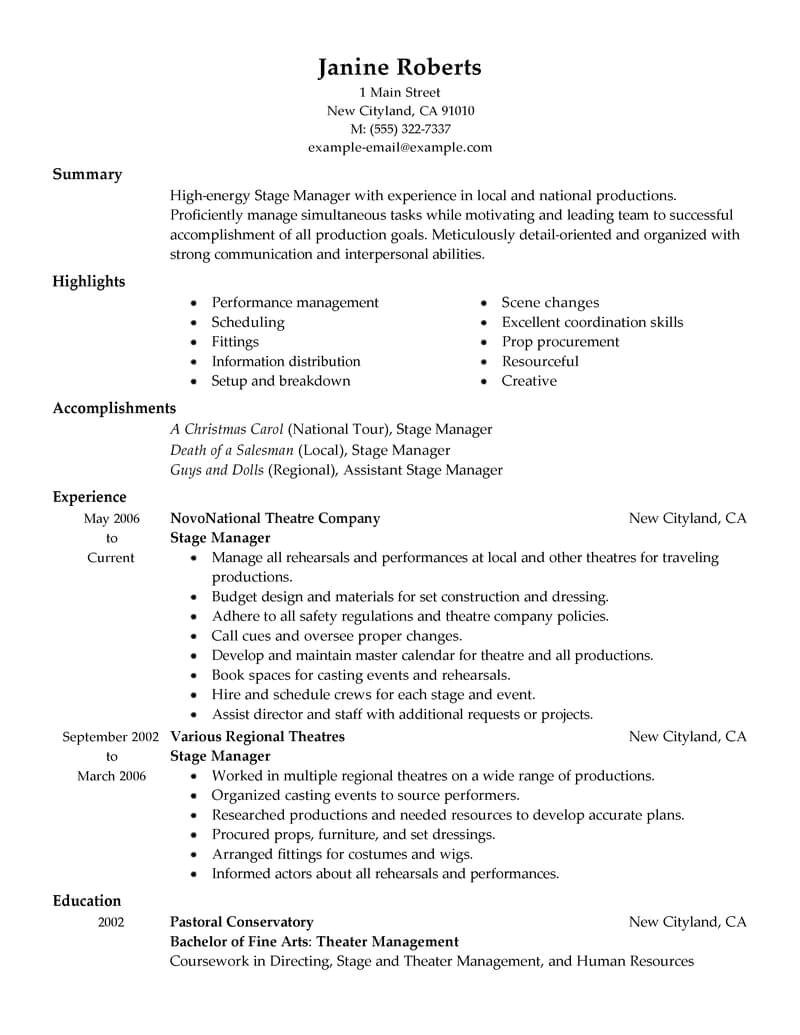 Resume Template for Supervisor Position Supervisor Resume Sample Supervisor Resumes Livecareer