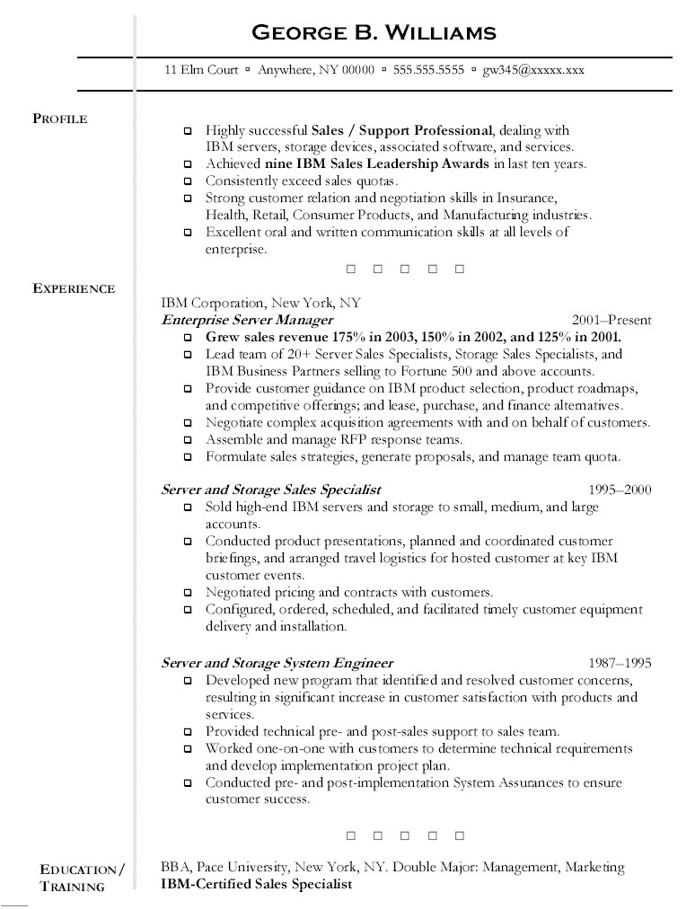 Resume Template Server Server Resume Free Excel Templates