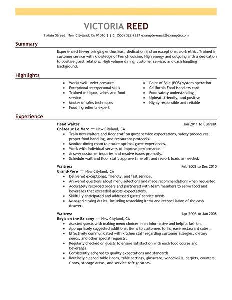 Resume Template Server Server Resume Template Learnhowtoloseweight Net