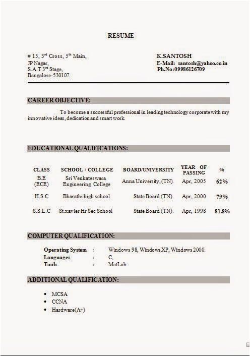 Resume Template Word Document Resume In Word Document