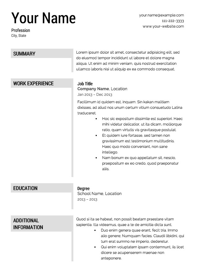 Resume Templates Downloads Free Resume Templates Download From Super Resume