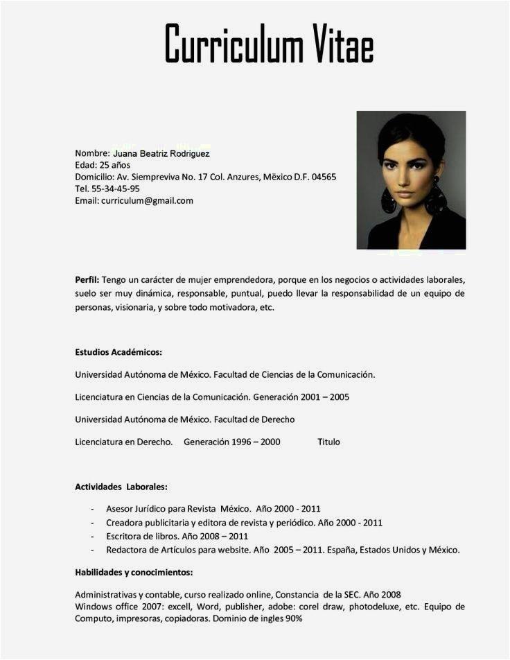 Resume Templates En Espanol Curriculum Vitae Template En Espanol Resume Cover Letter