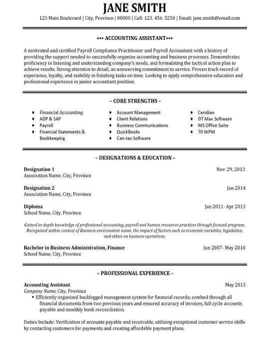 best accounting resume templates samples
