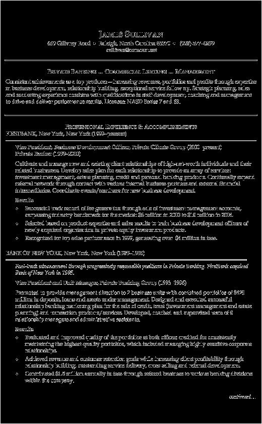 banking resume templates