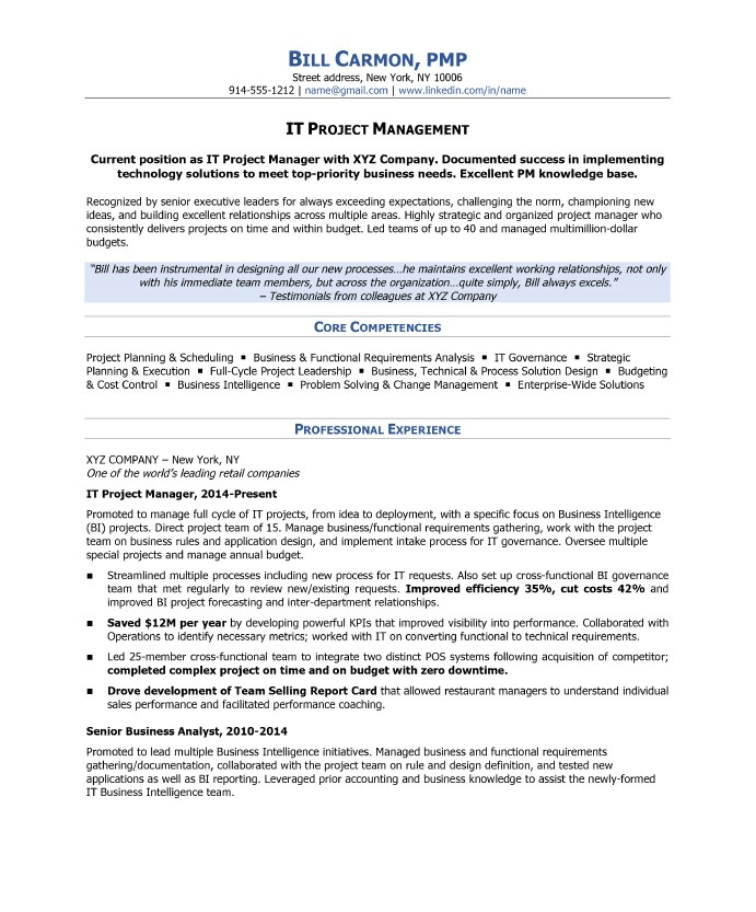 Resume Templates for Project Managers How to Write A Project Manager Resume Blue Sky Resumes Blog