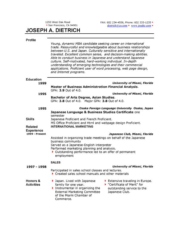 Resume Templates Free Download for Microsoft Word 85 Free Resume Templates Free Resume Template Downloads