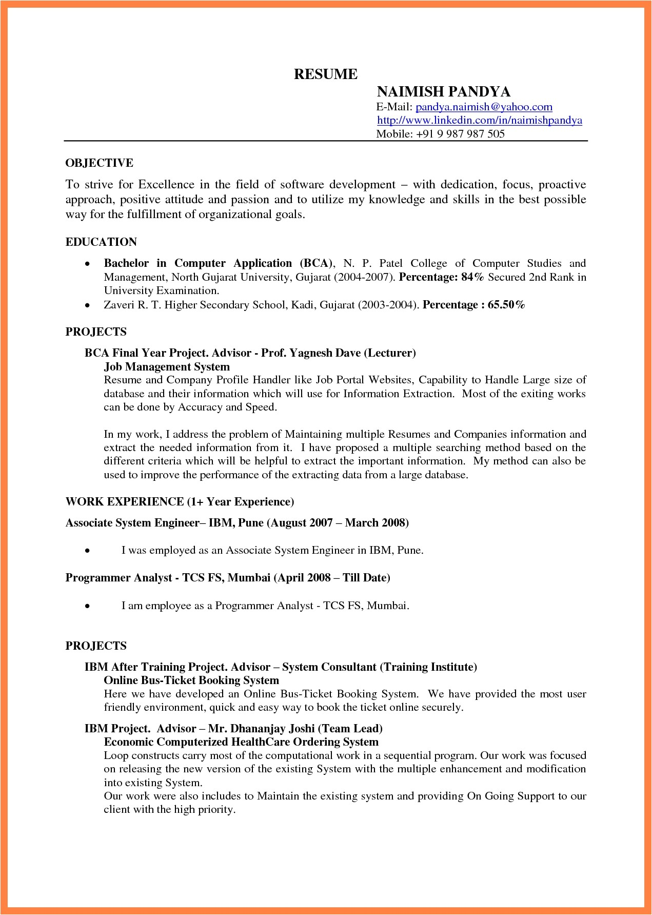 docs resume template