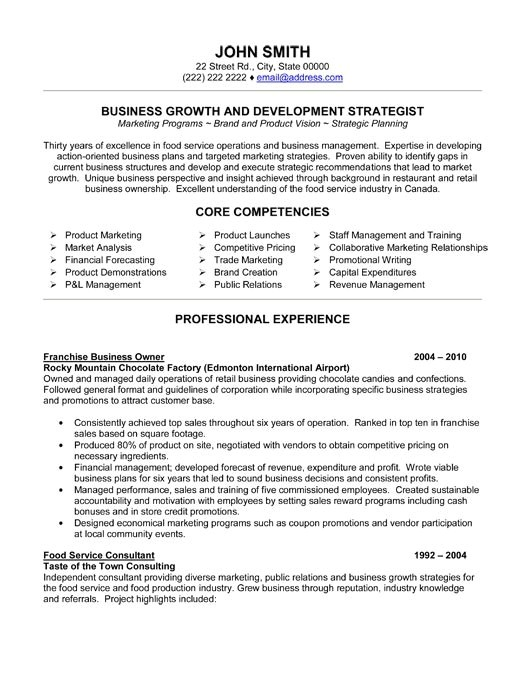 Retail Business Owner Resume Sample Business Owner Resume Ingyenoltoztetosjatekok Com