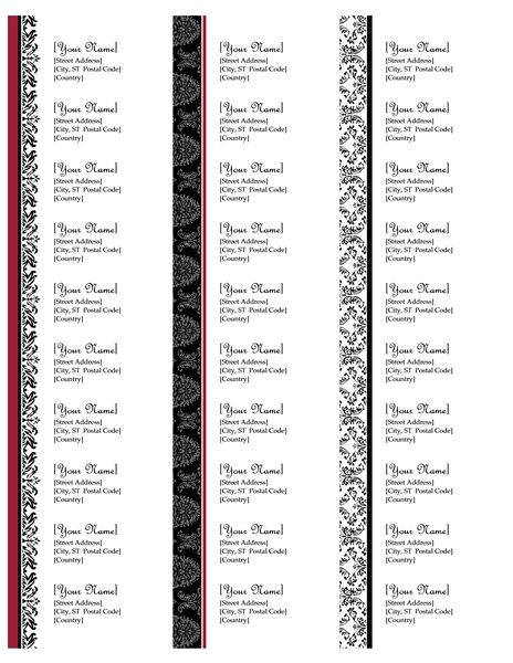address labels free address label templates