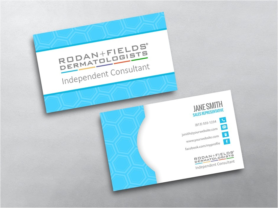 Rodan and Fields Business Card Template Free Rodan and Fields Business Cards Free Shipping