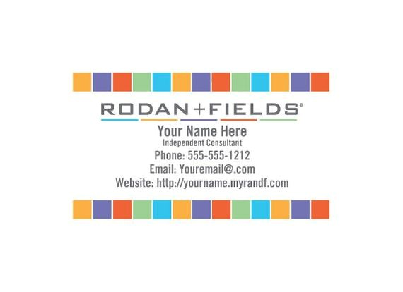 rodan fields diy business card template