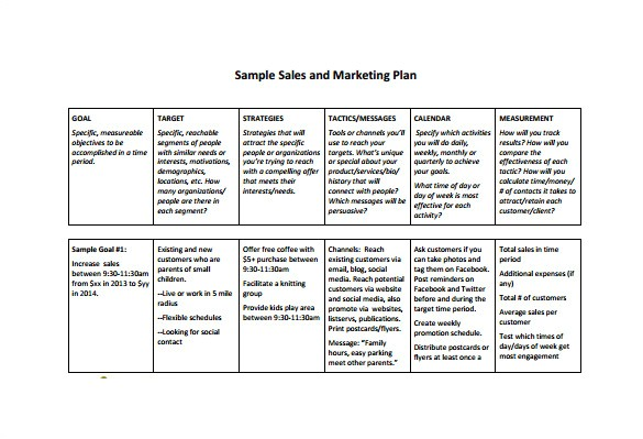 Sales Business Plan Template Free 7 Sales Plan Template Pdf Doc Free Premium Templates