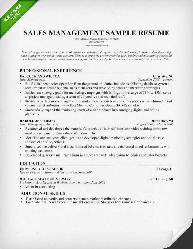 sales manager resume templates 1193