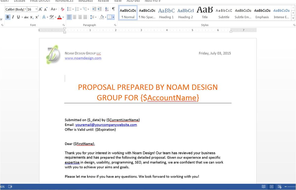 Salesforce Proposal Template Generate Customized Proposals From Salesforce Webmerge