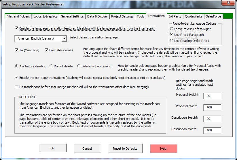 proposal pack wizard salesforce com shtml