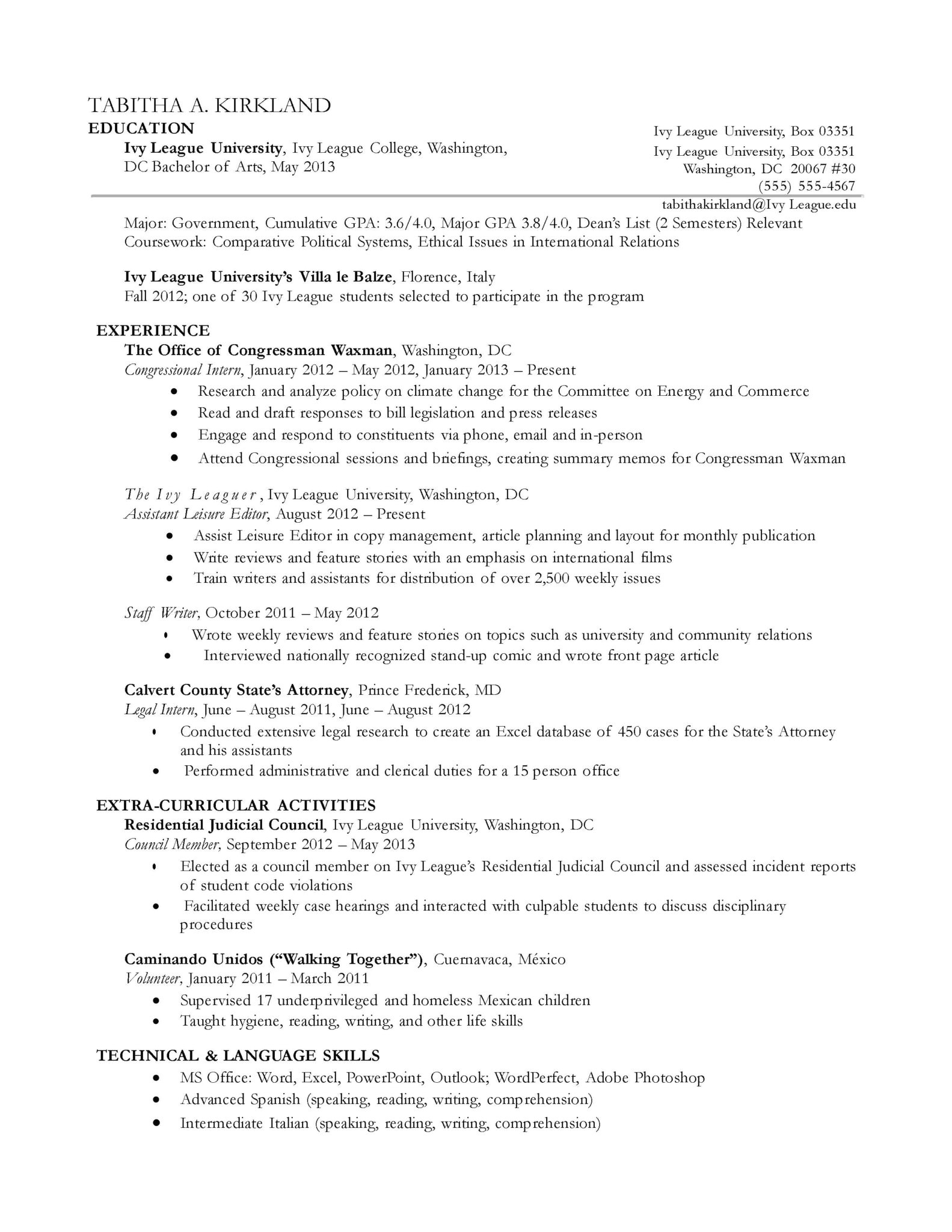Sample College Application Resume Ivy League Ivy League Student Resume Sidemcicek Com