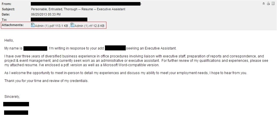 resume email