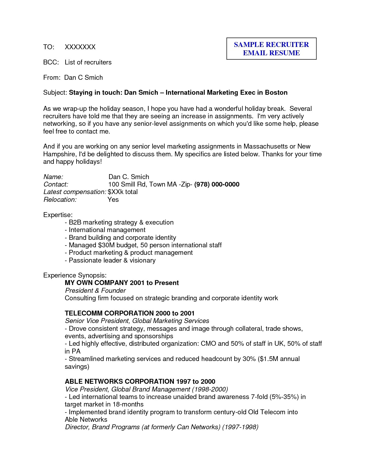 Sample Email to Send Resume for Job Sample Email to Send Resume to Recruiter Cryptoave Free