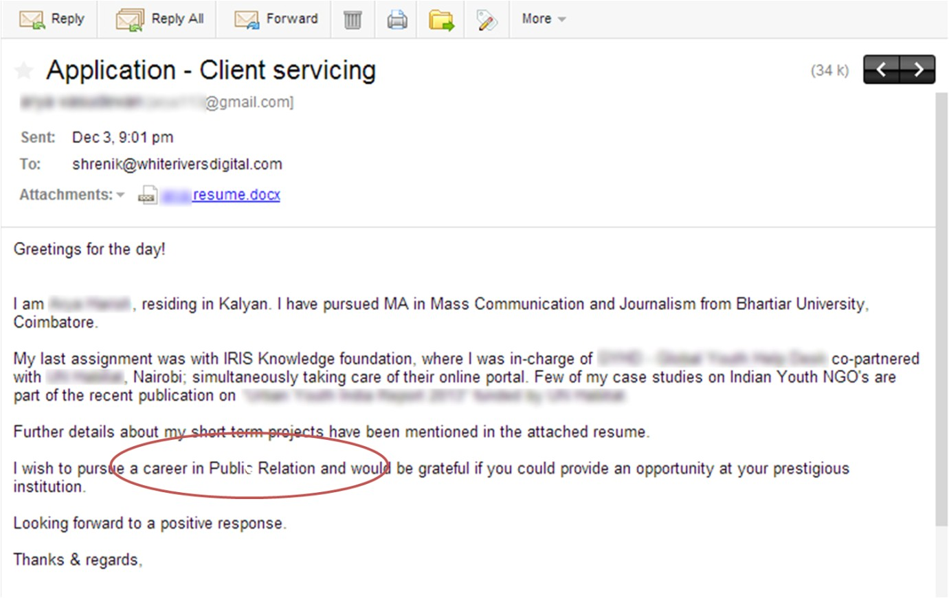 Sample Email to Send Resume for Job top 10 Ways Of Not Getting Selected In the First Round at