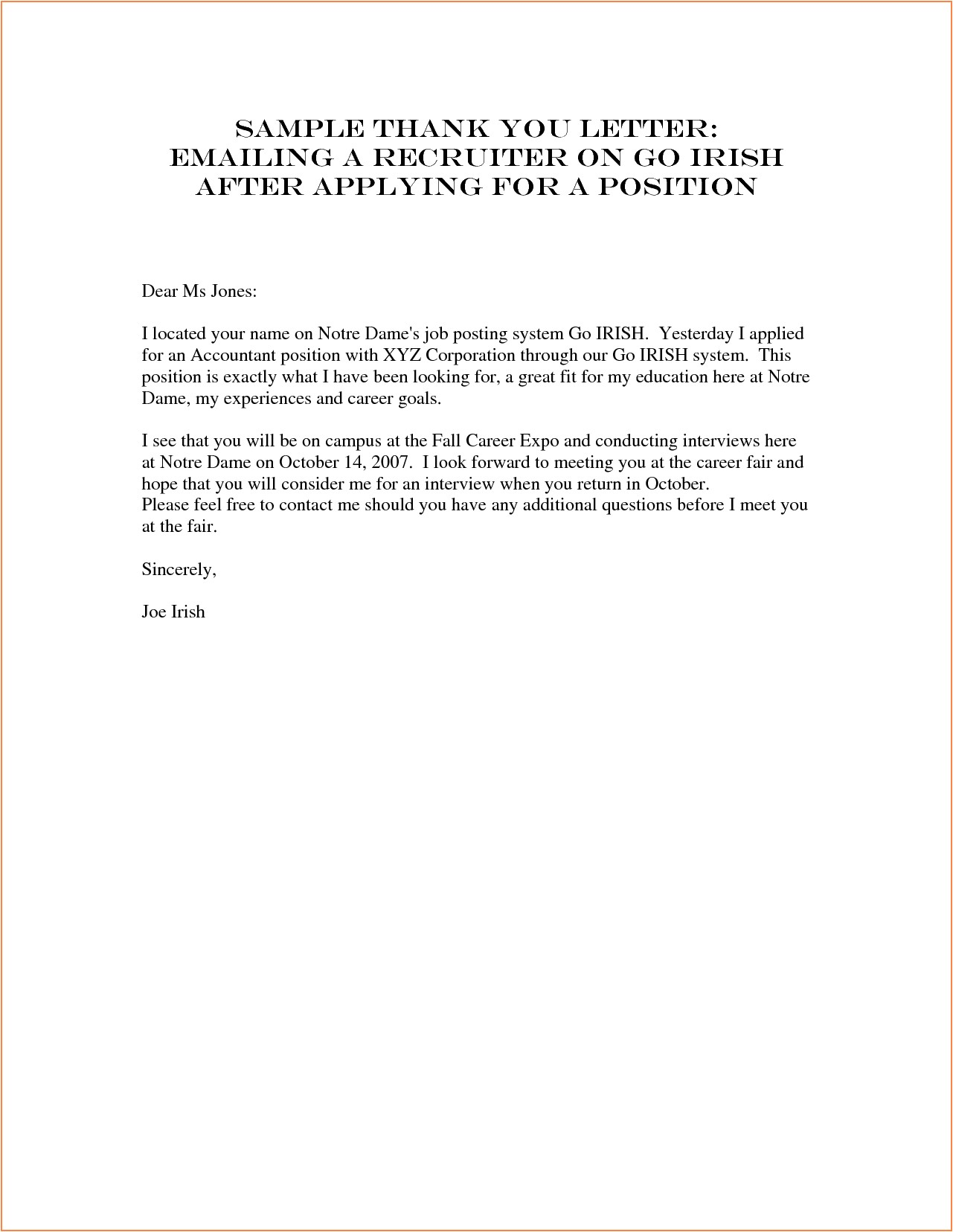 Sample Email to Send Resume to Recruiter Sample Letter to Recruiter Best Letter Sample