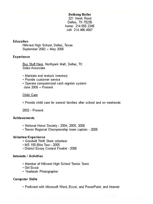 Sample High School Student Resume 1000 Images About Resumes On Pinterest High School Resume