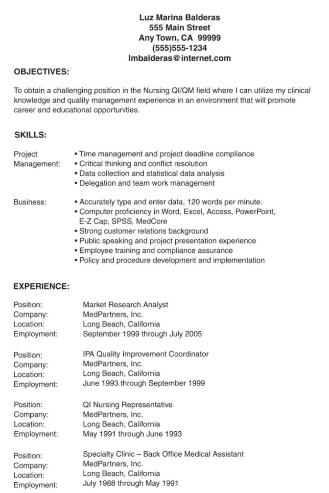 sample lpn resume