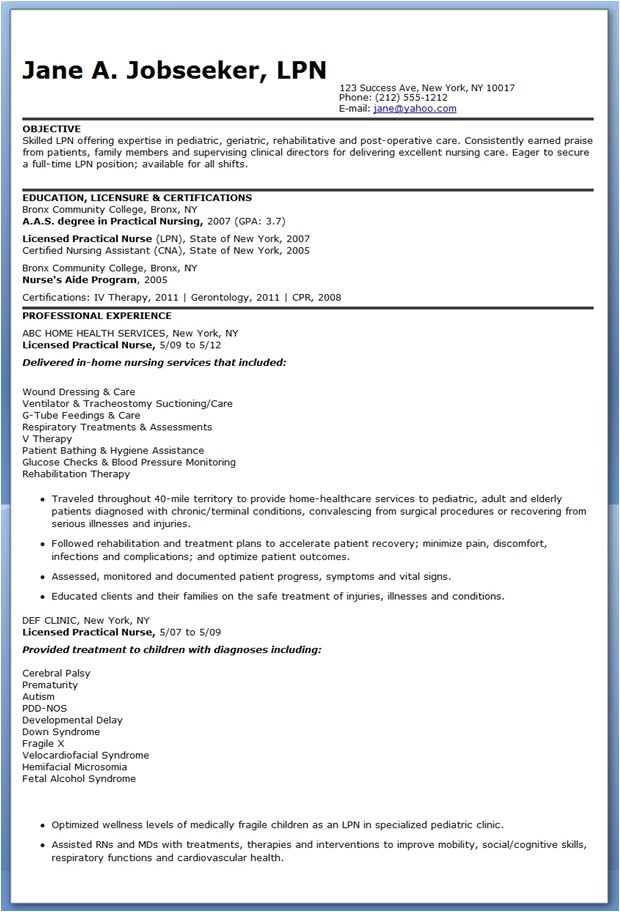 Sample Lpn Resume Objective Writing A Good Resume Objective Statement