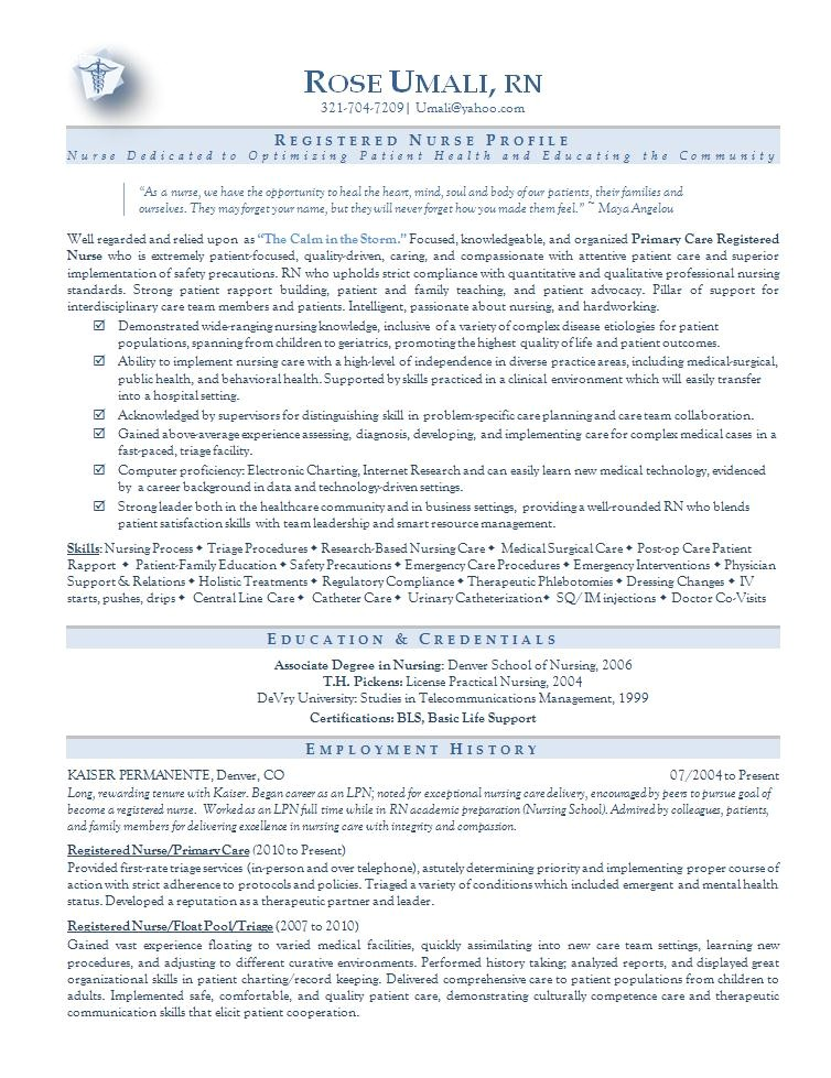 Sample Nursing Resume Templates Nursing Resume Sample