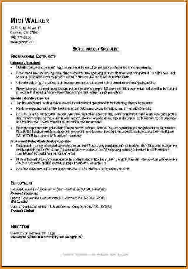 10 good resume examples college students