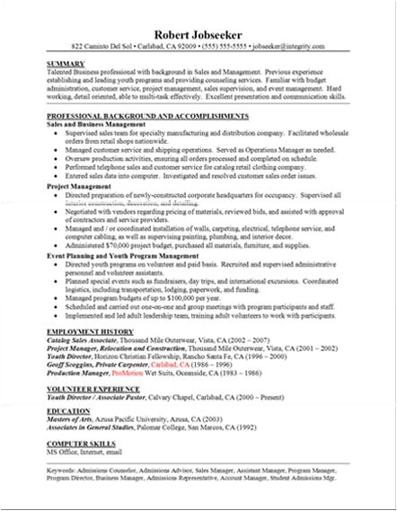 Sample Of Good Resume Resume Templates Free Resumes