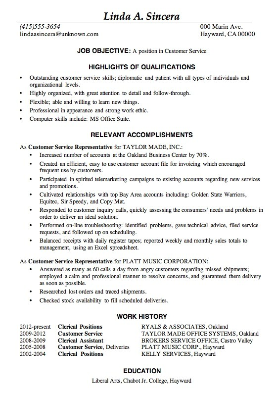 Sample Of Good Resume Sample Of A Good Resume for Job Safero Adways