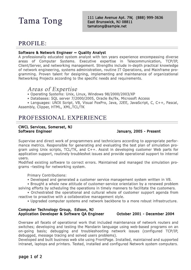 Sample Of Professional Resume Professional Level Resume Samples Resumesplanet Com