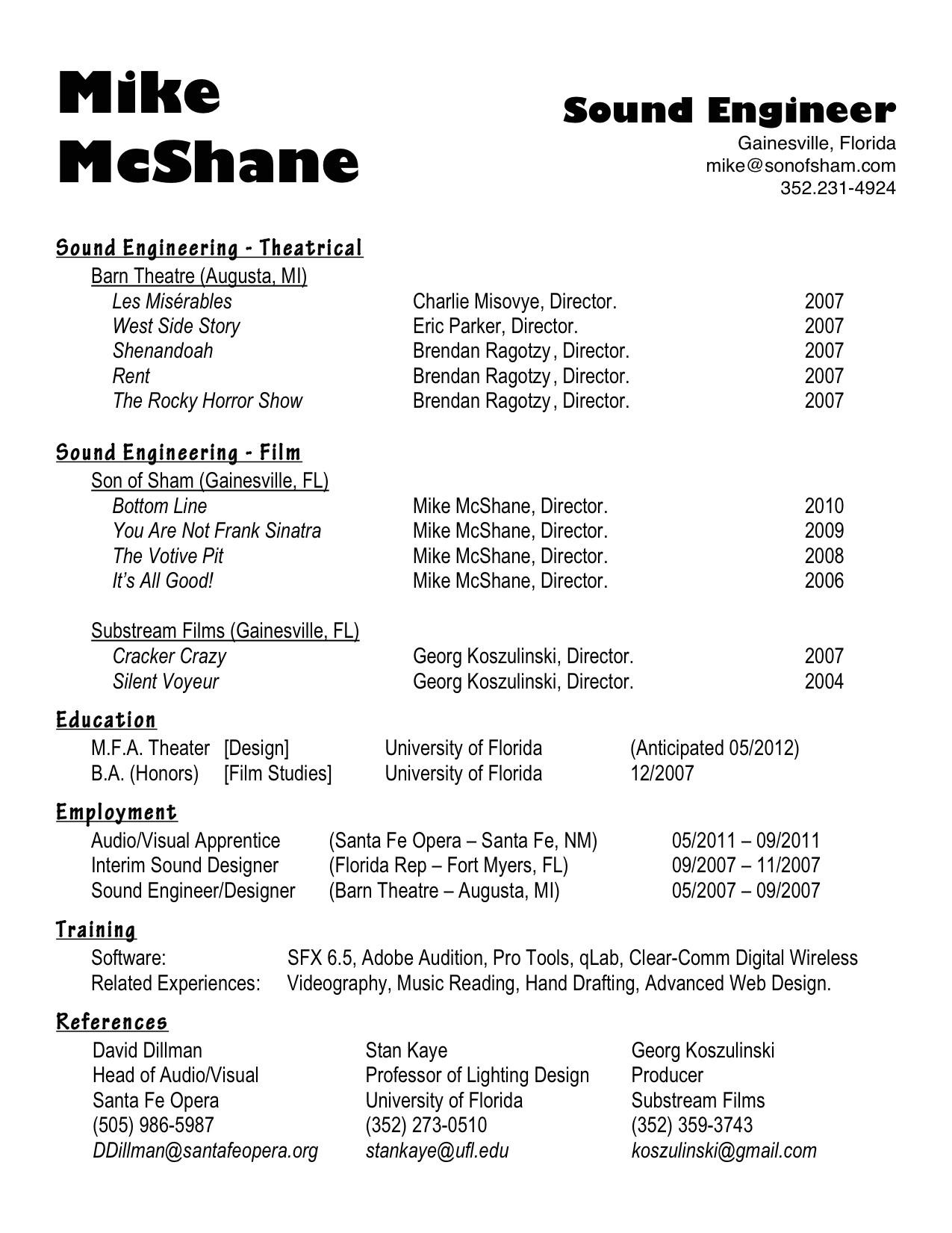 sample script for video resume