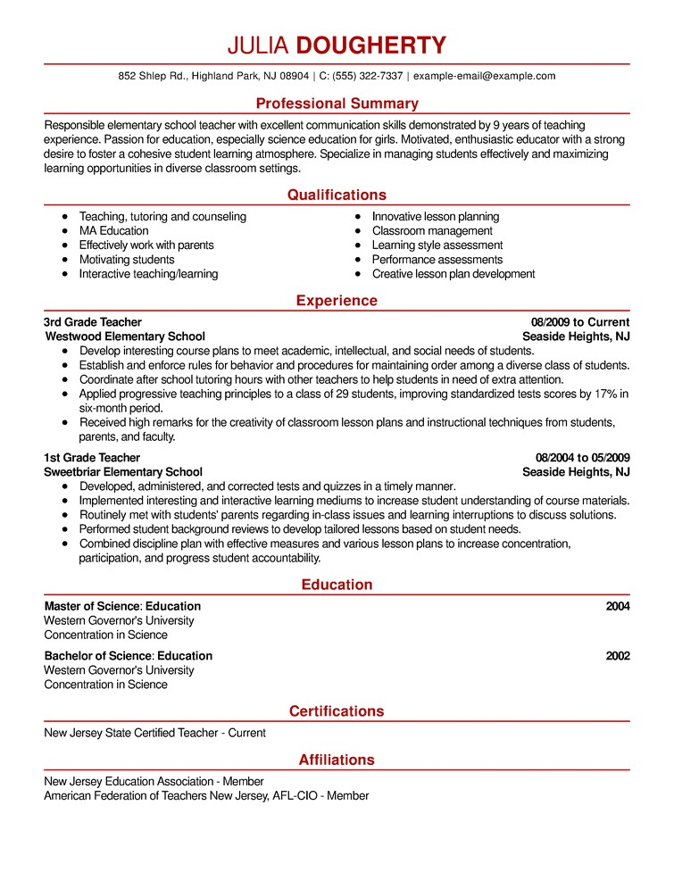 Sample Resume Examples Free Resume Examples by Industry Job Title Livecareer