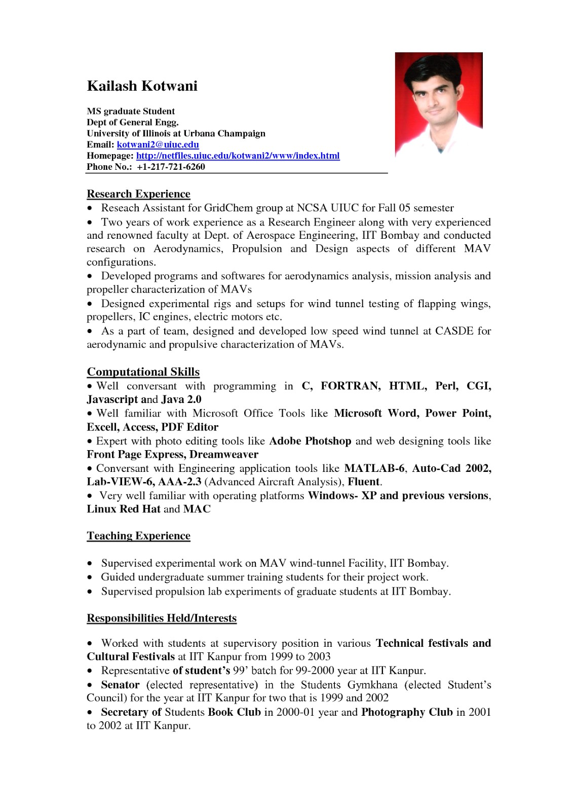Sample Resume Examples Sample Resume format for Students Sample Resumes