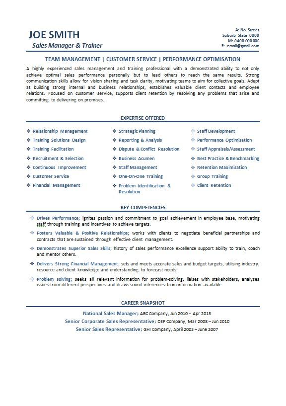 example australian resume