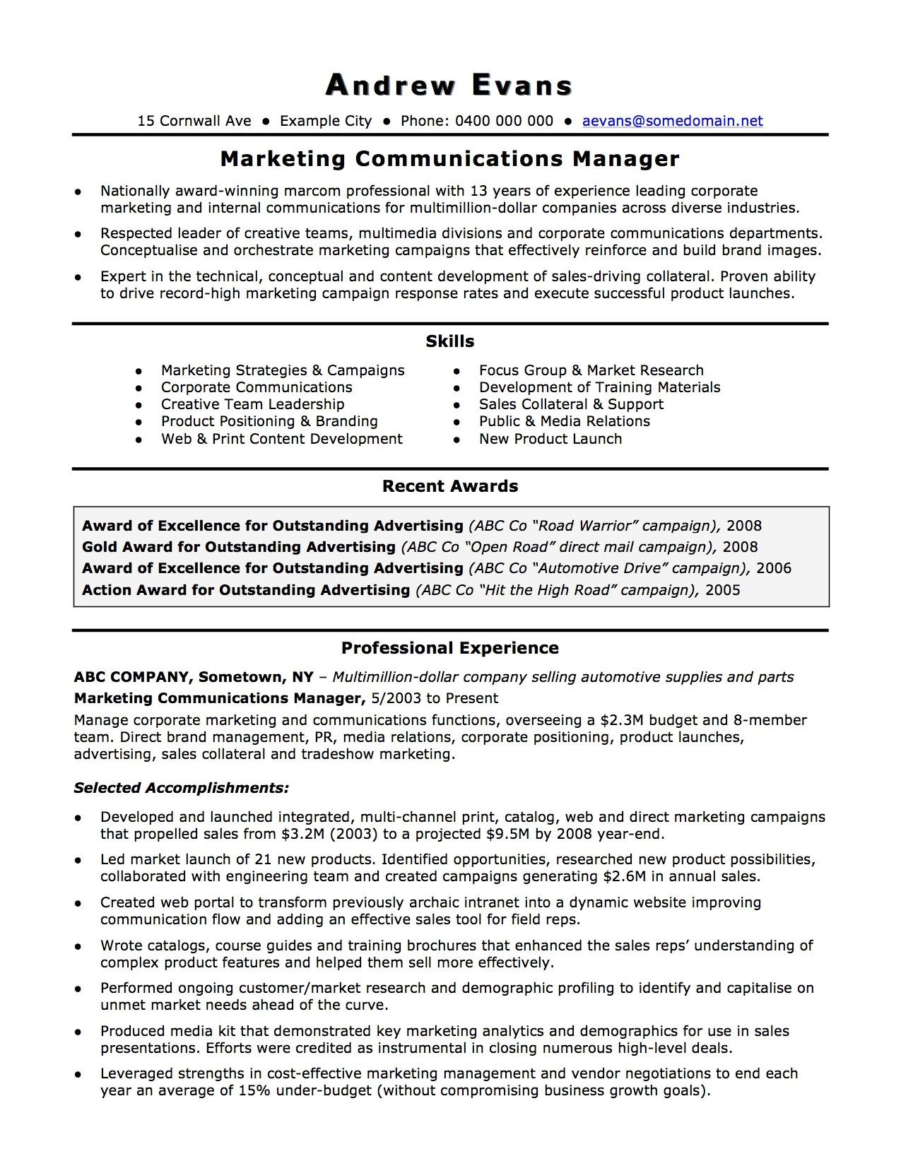 australian resume