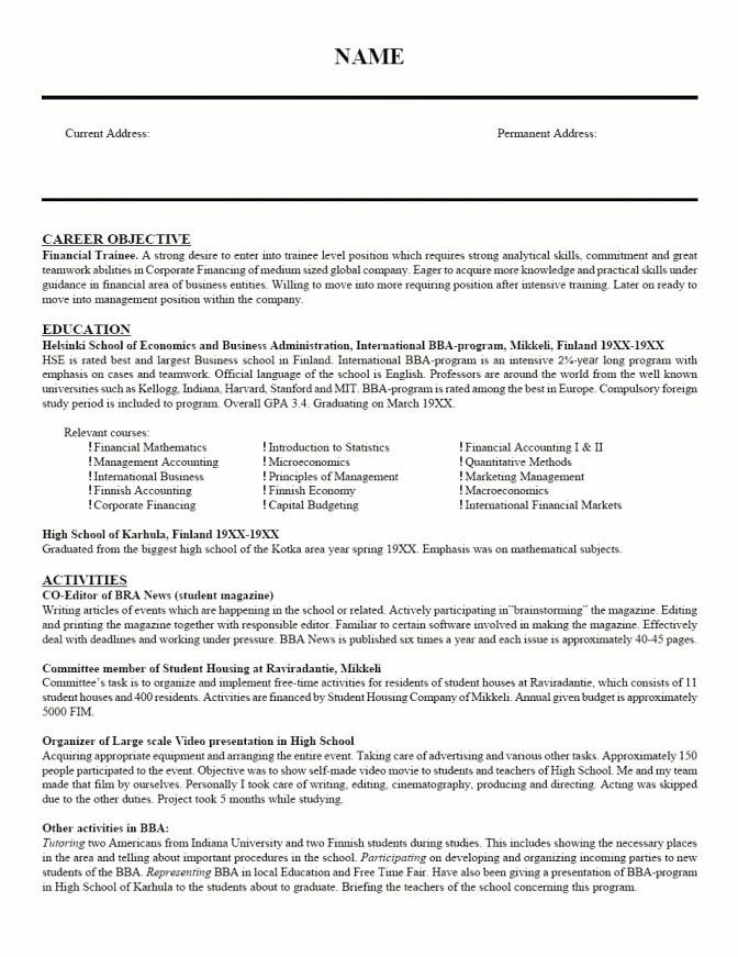Sample Resume for College Students Still In School Resume for College Students Still In School Best Resume
