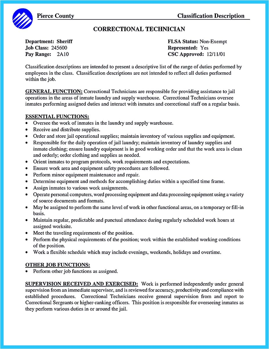 perfect correctional officer resume get noticed