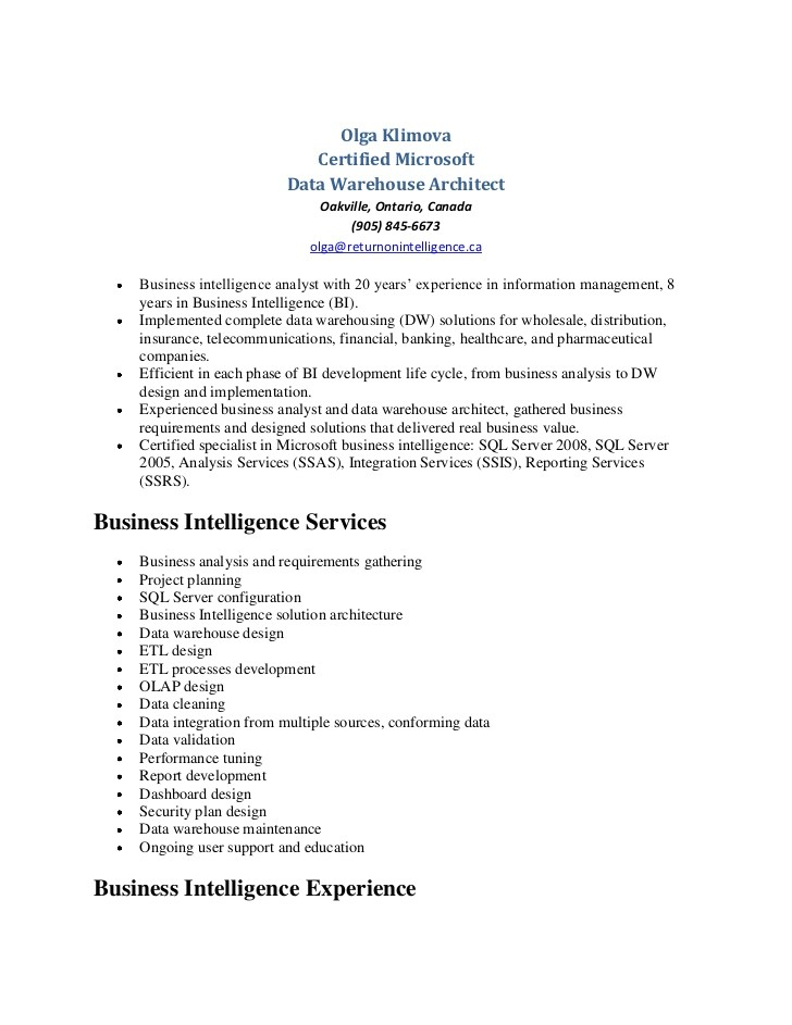 Sample Resume for Data Warehouse Analyst Data Warehouse Analyst Resume Resume Ideas