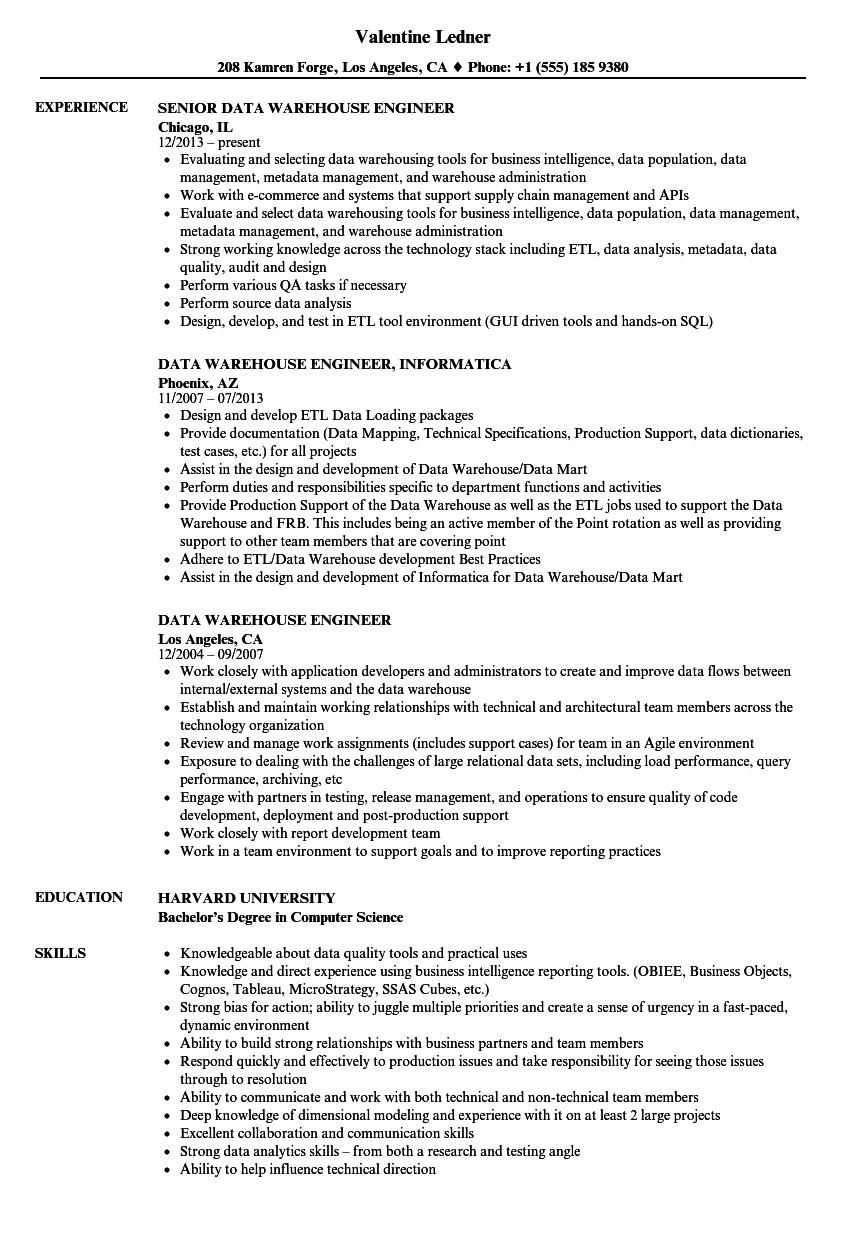 Sample Resume for Data Warehouse Analyst Data Warehousing Analyst Jobs Resume Example Best Resume