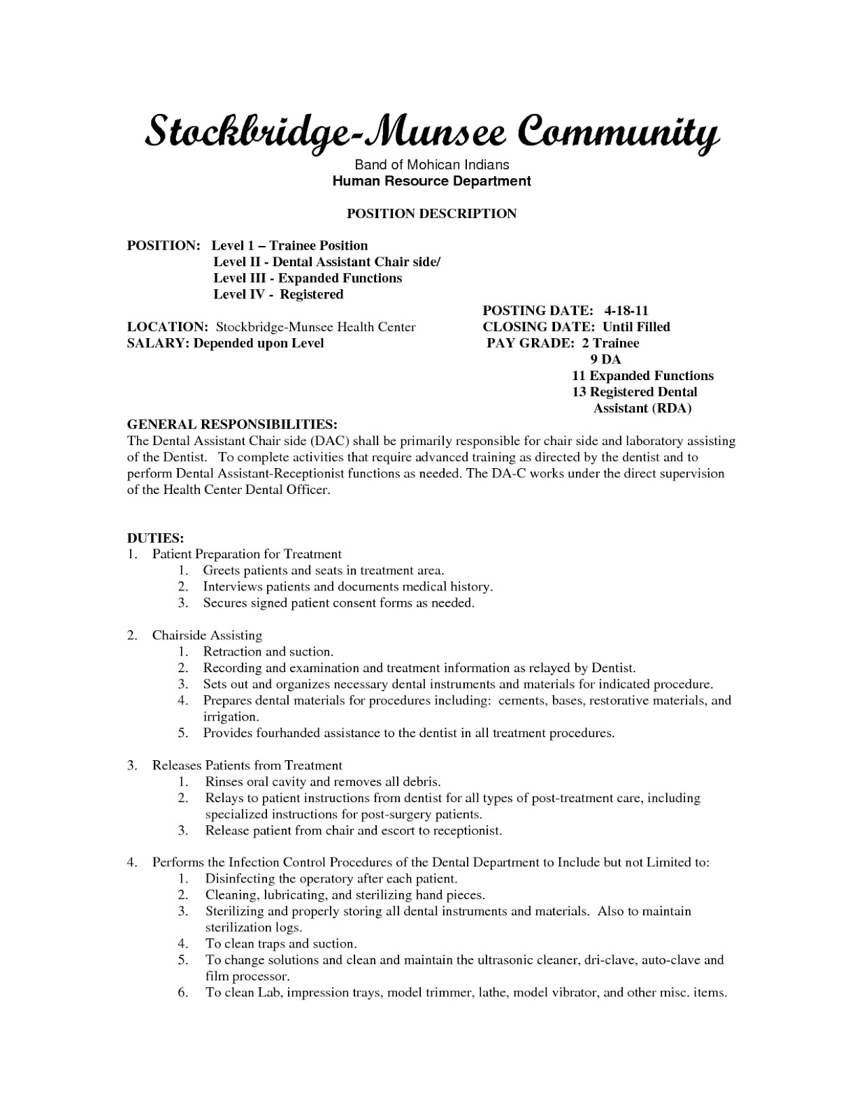 Sample Resume for Dental assistant with No Experience Sample Dental assistant Resume Sample Resumes