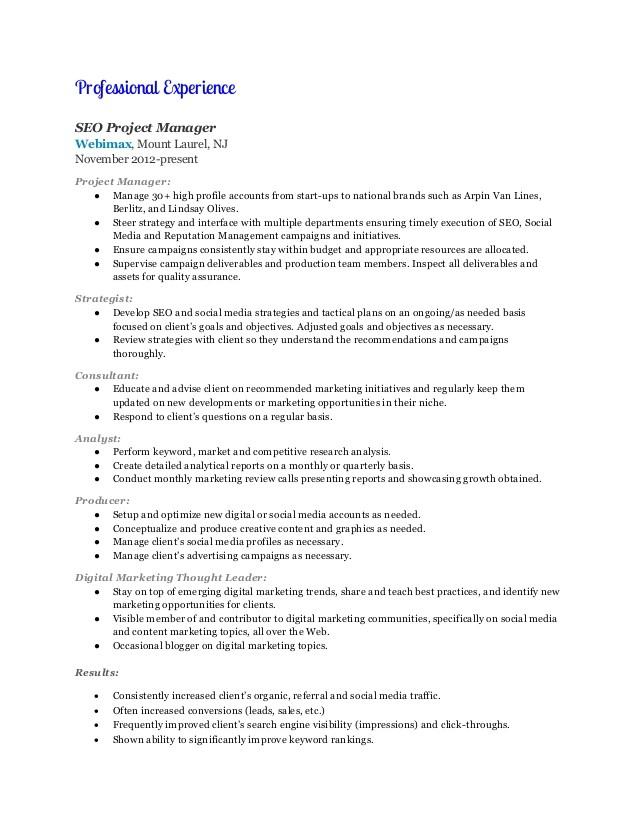 Sample Resume for Digital Marketing Manager Digital Marketing Manager Resume Marilyn Moran