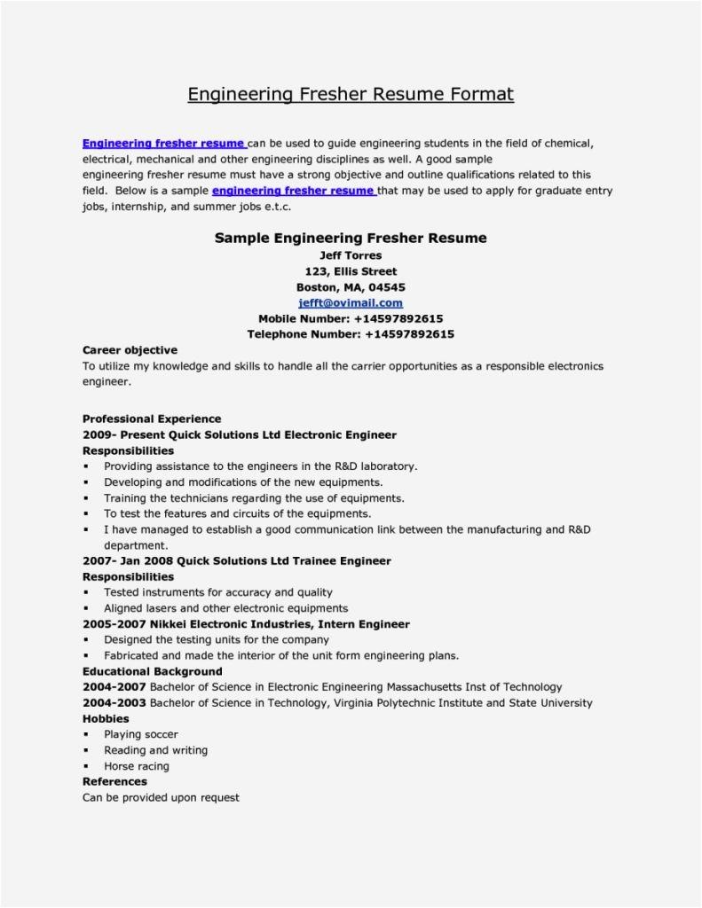 Sample Resume for Fresh Graduate Civil Engineering Civil Engineer Fresh Cv Resume Template Cover Letter
