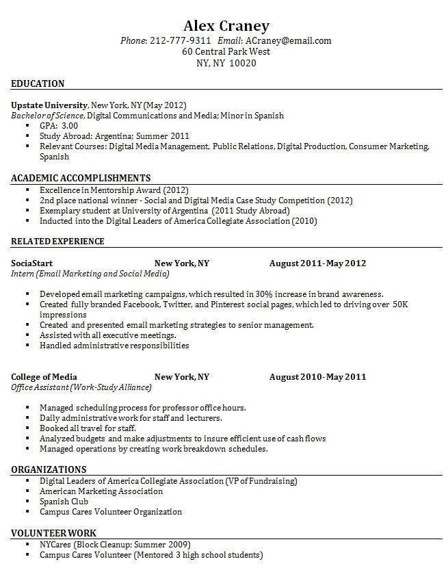 resume sample for fresh graduate without experience resume and sample resume for fresh graduate without work experience 2