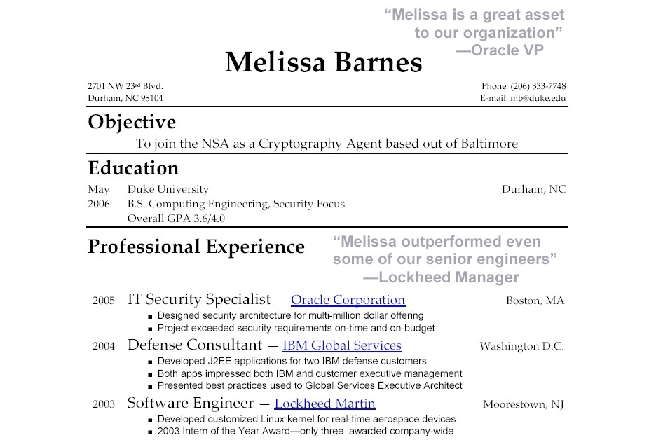 sample resume for fresh graduate without work experience 2