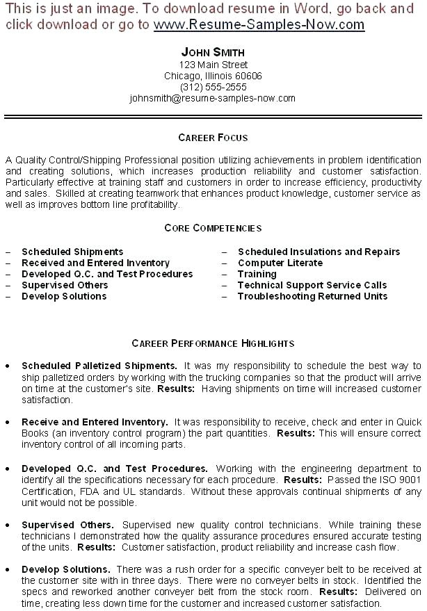 Sample Resume for Inventory Manager Inventory Control Procedures Virtuart Me