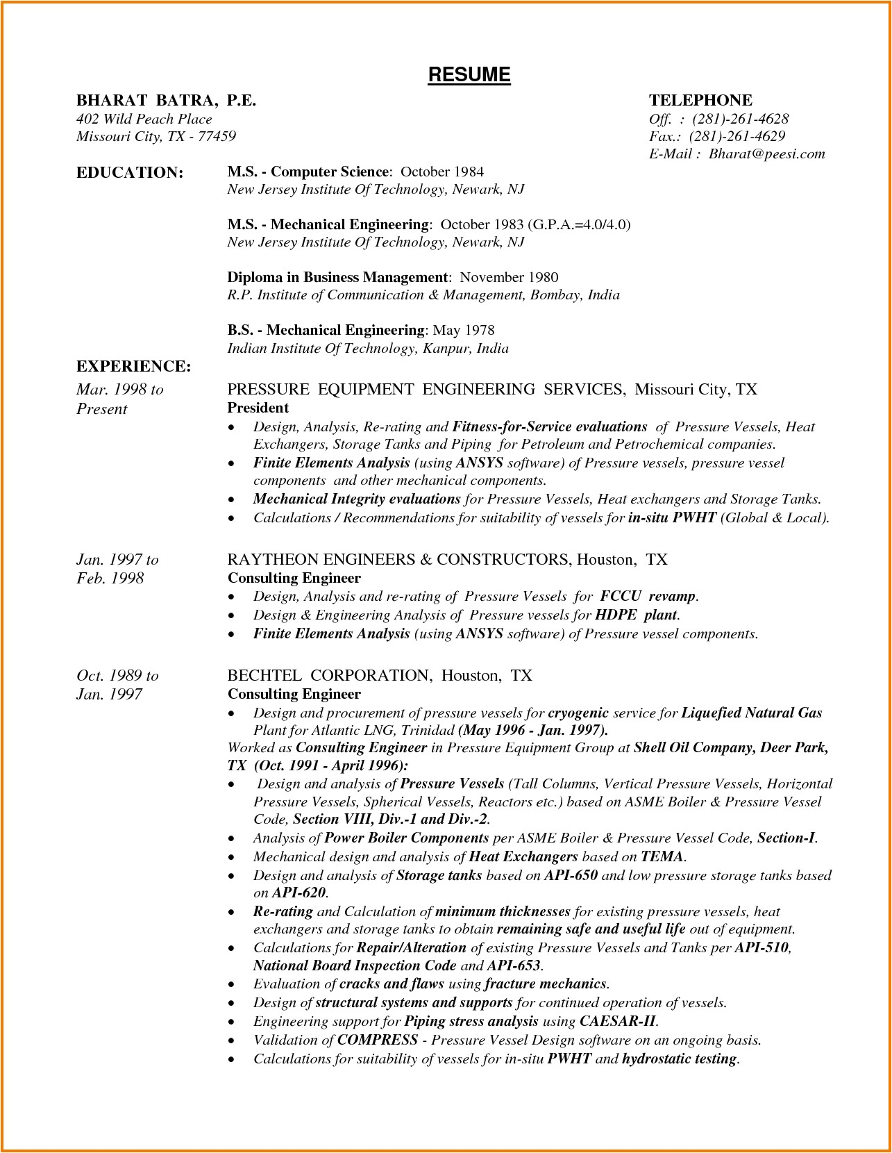sample resume for mechanical design engineer pdf