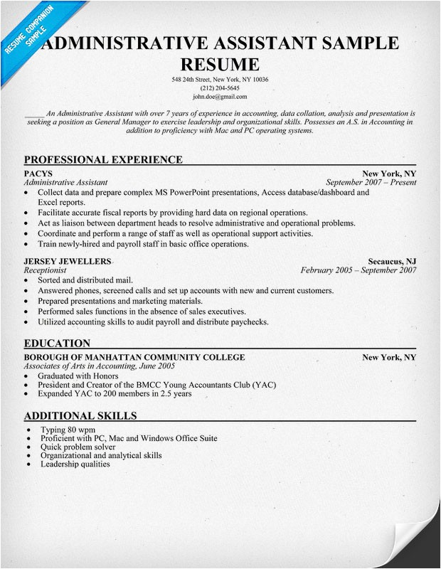 Sample Resume for Office assistant with No Experience Sample Resume for Administrative assistant with No