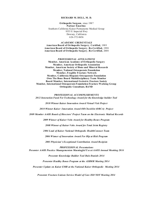 resume for dell 4 14 2015